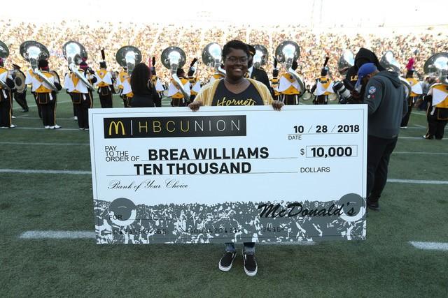 HBCU scholarship winner